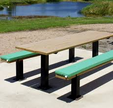 Remarkable Diy Rectangle Outdoor Picnic Table With Umbrella And