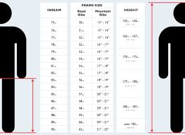 Bicycle Size Chart Cm Zerocarboncaravan Net