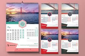Calendar Design 2019 Calendar Design Template Photoshop Action
