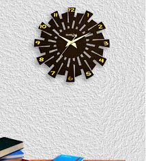 black wooden evolution wall clock