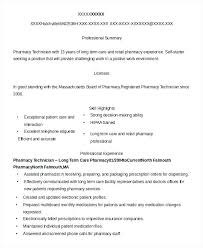Resume Examples For Pharmacy Technician New Pharmacy Technician Resume Examples Sample Long Term Care Pharmacy