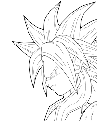 Small Picture 11 Images of Trunks SSJ3 Coloring Pages DBZ Trunks SSJ Coloring