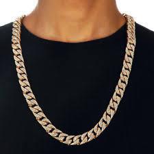 hip hop men quavo gold pt iced out 15mm 20 miami cuban choker chain necklace