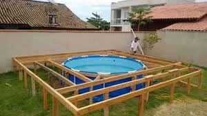 amazing deck around above ground pool creative idea diy swimming with pallet tree hot tub inground intex picture basement window