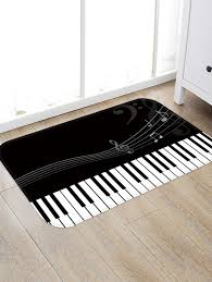 chic piano key pattern water absorption area rug