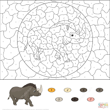 Small Picture Color by Number Worksheets coloring pages Free Coloring Pages