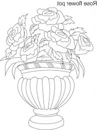 flower pot flowers drawing a photo of pencil sketches  flower pot flowers drawing flower pot drawing in colour flowers in a vase essay to