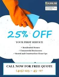Commercial Cleaning Flyers Cleaning Advertisement Template
