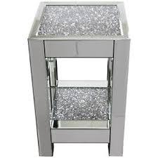 diamond furniture. Image Is Loading Square-Mirror-Crushed-Diamond-Mirrored-Glass-Display-Side- Diamond Furniture