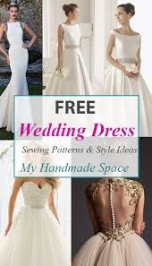 Wedding Dress Patterns To Sew Mesmerizing FREE Wedding Dress Sewing Patterns Free Patterns Pinterest