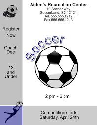 flyer word templates soccer flyer template for microsoft word microsoft publisher