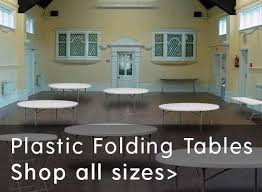 plastic folding tables all sizes