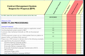 Contract Management Excel Template Contract Management Software Selection Rfp