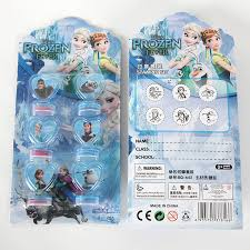 <b>6pcs Disney Frozen</b> Party Cartoon Seal Stamper Teacher Stamp Set ...