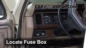 interior fuse box location 1983 1986 ford f 250 1984 ford f 250  at 1984 Mercury Lynx Fuse Box Outline