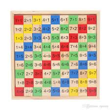 2018 Wooden Digital Board Multiplication Table Educational Math ...