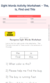 I've collected a colorful assortment of sight word activities, covering lots of the dolch and fry sight words. 12 Sight Word Activities Worksheet Phoenix Worksheets Worksheets Free