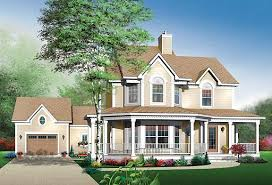 The Maybloom house plan has several key features of a Victorian home,  including a wraparound porch and bay windows. The asymmetrical facade gives  this house ...