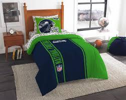 Nfl Bedroom Furniture Seattle Seahawks Full Comforter Set Nfl Football Helmet