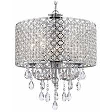 crystal chrome chandelier pendant light with crystal beaded drum shade beaded lighting