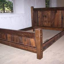 queen size wood bed frame. Interesting Frame Buy Hand Crafted Reclaimed Antique Oak Wood Queen Size Rustic Bed Frame  With Beveled Posts Made To Order From The Strong Oaks Woodshop  CustomMadecom O