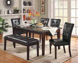 Homelegance Decatur 6 Piece Dining Set With Marble Tabletop And