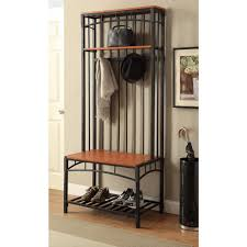 Metal Hall Tree Coat Rack 100D Concepts Boltzero Black And Cherry Hall Tree100 The Home Depot 22