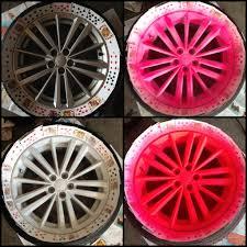 picture of plasti dip rims blaze pink