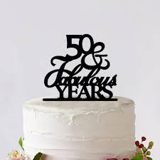 50th Anniversary Cupcake Decorations Popular 50th Anniversary Cake Topper Buy Cheap 50th Anniversary