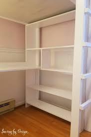 large bookcase under loft bed