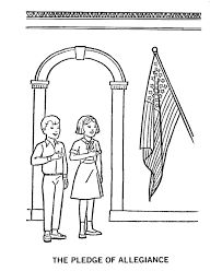 Small Picture Pledge of Allegiance Coloring Page American History Pinterest