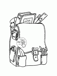 Small Picture Backpack with School Supplies coloring page for kids back to