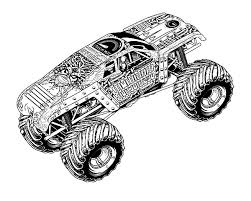 Monster Jam Coloring Pages El Toro Loco Monster Truck Coloring Page