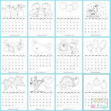 Kids Free Printable Coloring Pages Printable Colouring Calendar