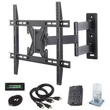 Tv wall mouns Swivel Full Motion Tv Wall Mount Kit For 26 In 70 In Tvs Home Depot Commercial Electric Full Motion Tv Wall Mount Kit For 26 In 70 In