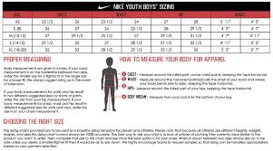 Nike Boys Size Chart Nike Size Chart Toddler Bedowntowndaytona Com