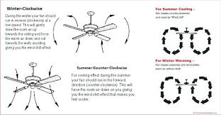 ceiling fan directions which direction should turn in winter months gala