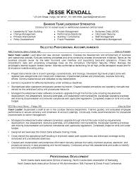 leadership position resume