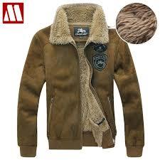 whole men faux shearling sheepskin suede leather outerwear fur liner polite coat warm winter jackets flight jacket plus size to 8xl direct from