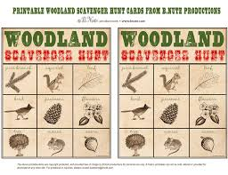 bnute productions: Free Printable Woodland Scavenger Hunt Game