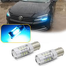 Details About Can Bus Ice Blue Led Drl Bulbs For 2011 2017 Vw Jetta Mk6 Daytime Running Lights