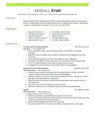 Customer Service Resume Summary Adorable Create My Resume Sample Customer Service Representative Skills