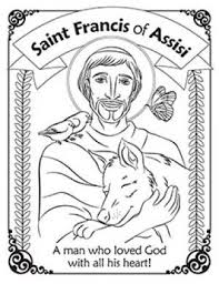 Herald Store Free St Francis Of Assisi Coloring Pages Ccd Craft