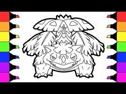 Pokemon Coloring Pages Mega Venusaur Evolution Colouring Book Fun