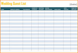 wedding spreadsheet 7 wedding guest list spreadsheet wedding spreadsheet
