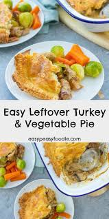 easy leftover turkey and vegetable pie