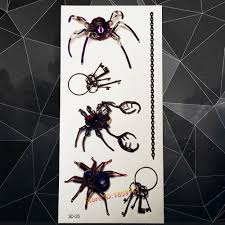 Us 073 5 Offnew 3d Vivid Spider Tattoo Stickers Waterproof For Children A3d 25 Cool Men 3d Tattoo Paste Adhesive Disposable Tattoo Kids 2016 In