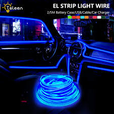 How To Install Lights In Car Interior Details About Flat El Wire Strip Neon Lights Power Driver For Car Interior Party Decors 2 5m