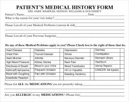 Bsa Medical Form Mesmerizing New Patient Medical History Form Template Bsa Medical Form