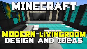 Modern Bedroom Minecraft Minecraft Modern Living Room Designs Ideas Youtube